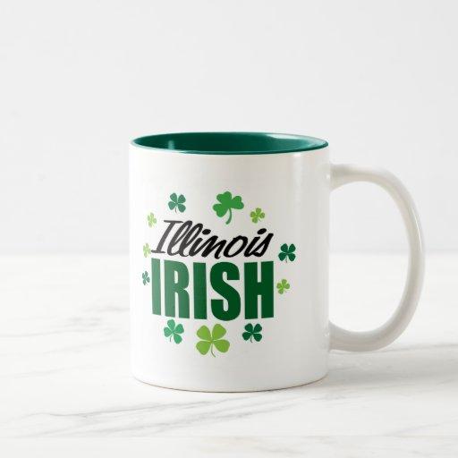Irlandés de Illinois Taza Dos Tonos