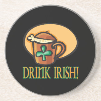 Irlandés de la bebida posavasos cerveza
