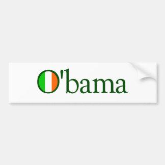 Irlandés de Obama Pegatina Para Auto