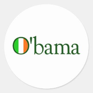 Irlandés de Obama Pegatina Redonda