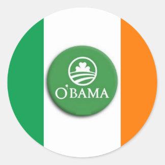 Irlandés de O'Bama - pegatinas Pegatina Redonda