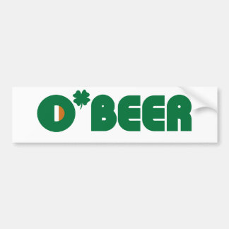 Irlandés de O'Beer Pegatina Para Auto