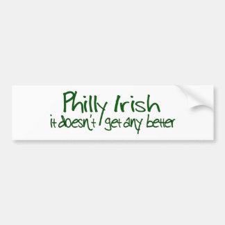 Irlandés de Philly Pegatina Para Auto
