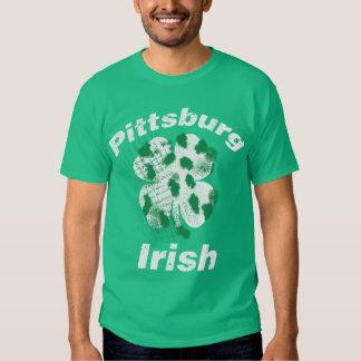 Irlandés de Pittsburgh del vintage Poleras