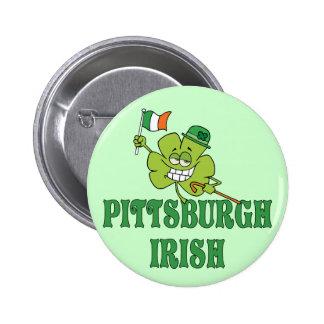Irlandés de Pittsburgh Pin Redondo De 2 Pulgadas