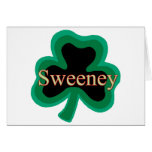 Irlandés de Sweeny Tarjetón