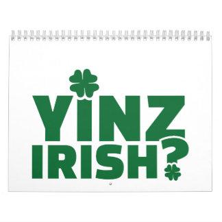 Irlandés de Yinz Calendarios