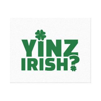 Irlandés de Yinz Lienzo Envuelto Para Galerías
