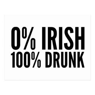 Irlandés del 0% el 100% borracho postales