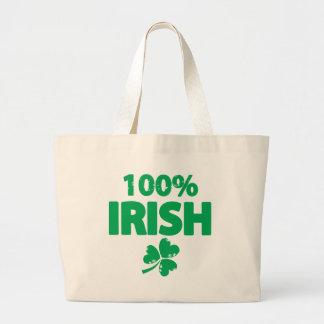 Irlandés del 100% bolsa tela grande