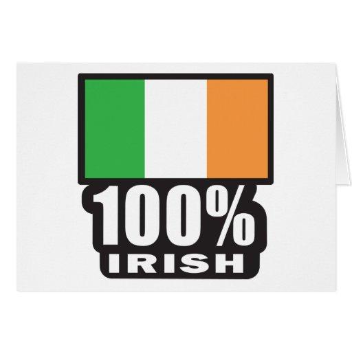 Irlandés del 100%/el día de St Patrick Tarjeta De Felicitación