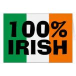 Irlandés del 100% tarjeta de felicitación