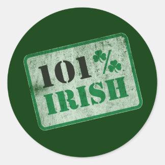 Irlandés del 101% - el día de St Patrick Pegatina Redonda