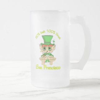 irlandés del 50% el 100% San Francisco borracho Taza De Cristal