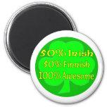 Irlandés del 50% el 50% el 100% finlandés impresio iman de frigorífico