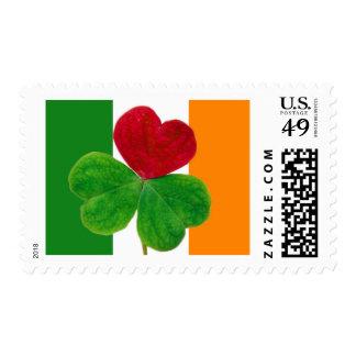 Irlandés del amor sello postal