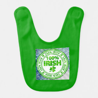 Irlandés del arte pop el 100% babero