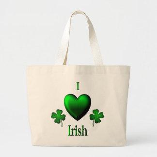 Irlandés del corazón del verde I Bolsa De Tela Grande