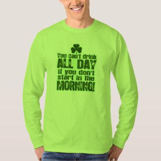 Irlandés del día de St Patrick divertido Playera