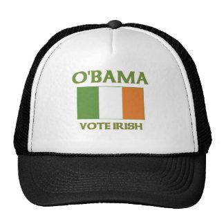 Irlandés del voto de Obama Gorras