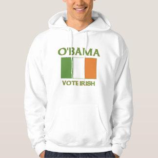 Irlandés del voto de Obama Sudadera Encapuchada