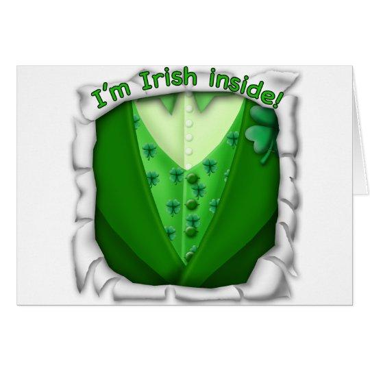 Irlandés dentro tarjeta de felicitación