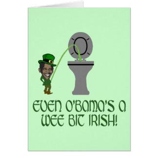 Irlandés divertido Obama Felicitacion