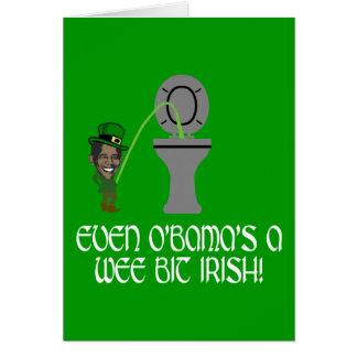 Irlandés divertido Obama Tarjeta