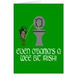 Irlandés divertido Obama Tarjeta De Felicitación