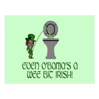 Irlandés divertido Obama Postales