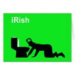 Irlandés divertido tarjeta de felicitación