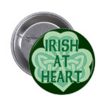 Irlandés en el corazón pin