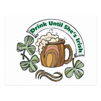 Irlandés era bebida borracha hasta que ella sea tarjetas postales