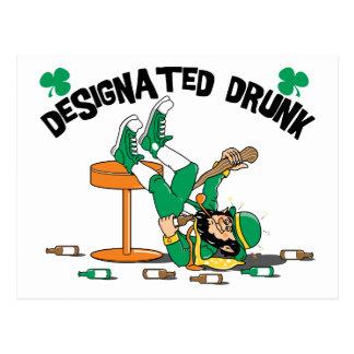 Irlandés era borracho señalado bebido postal