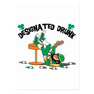Irlandés era borracho señalado bebido tarjeta postal
