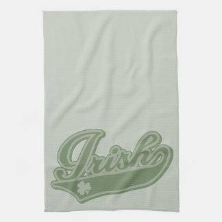 Irlandés [estilo del béisbol] toalla de mano
