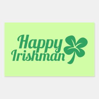 ¡Irlandés feliz! Pegatina Rectangular