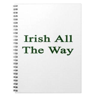 Irlandés hasta el final libros de apuntes con espiral