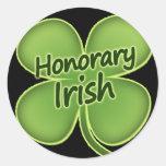 Irlandés honorario pegatina redonda