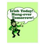 Irlandés hoy Colgar-sobre mañana Postal