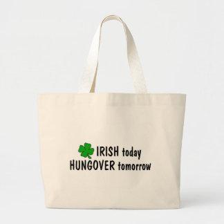 Irlandés hoy Hungover mañana Bolsas Lienzo