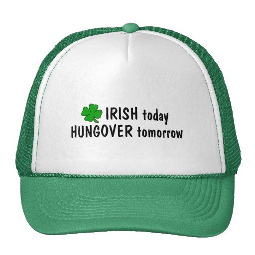 Irlandés hoy Hungover mañana Gorros Bordados