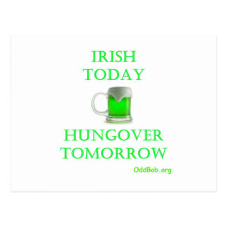 Irlandés hoy tarjeta postal