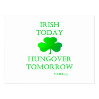 Irlandés hoy tarjetas postales