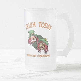 Irlandés hoy - w taza de cristal