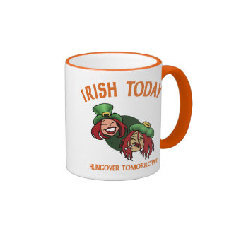 Irlandés hoy - w taza de dos colores