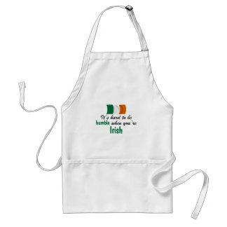 Irlandés humilde delantal