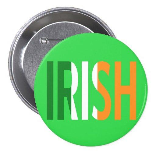 Irlandés irlandés de la bandera pins