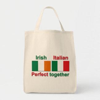 ¡Irlandés italiano - perfeccione junto! Bolsa Tela Para La Compra