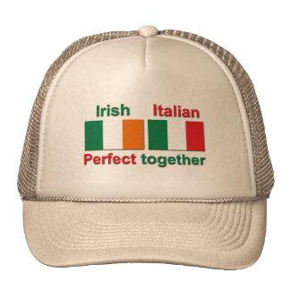 ¡Irlandés italiano - perfeccione junto! Gorras De Camionero
